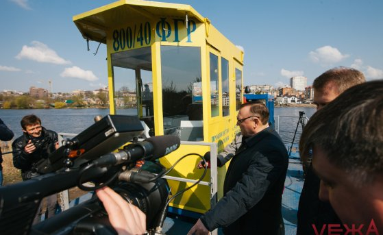 A powerful dredger was launched in Vinnitsa to clean the Southern Bug River